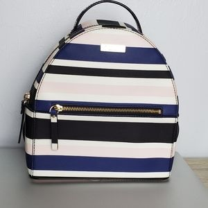kate spade striped small backpack